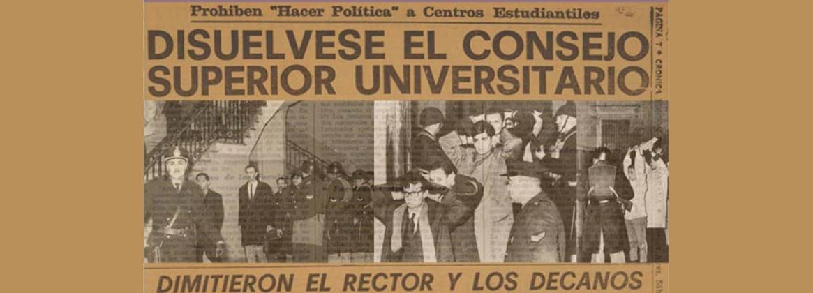 Imagen de la noticia >La UBA homenajea a los docentes, investigadores y nodocentes expulsados durante la intervención militar
