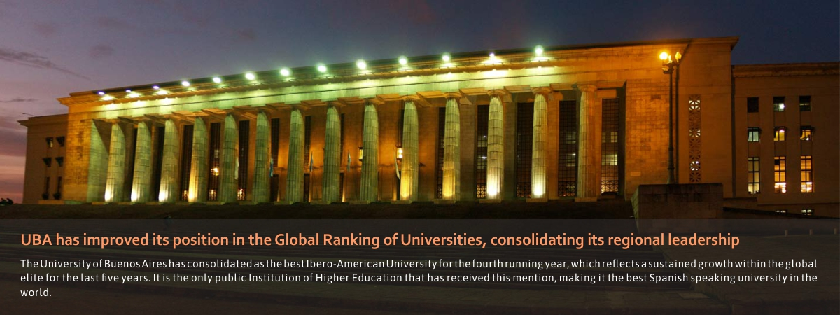 UBA has improved its position in the Global Ranking of Universities, consolidating its regional leadership
